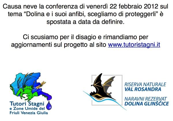 Rimandata conferenza 2
