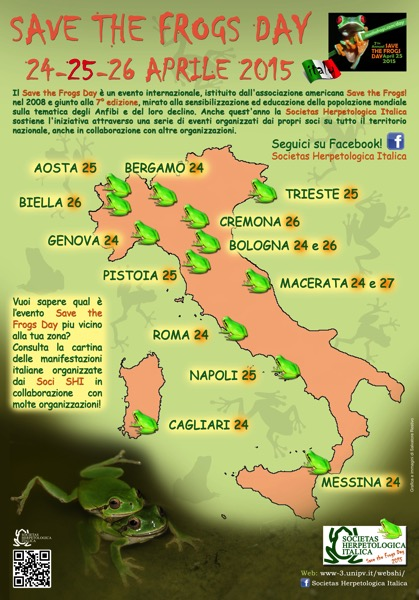 Cartina eventi DEF SAVE THE FROGS DAY 2015
